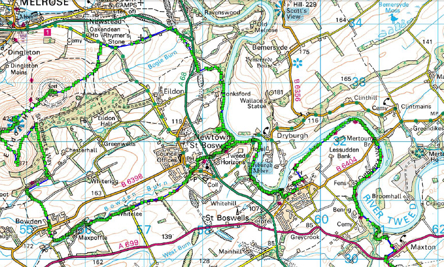 if we want a few more miles we could run down the track towards jedburgh and back either at the start of the run or after