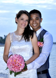 Emma & Yonas on their wedding day