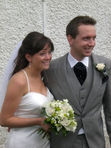 Jo & Jono on their wedding day