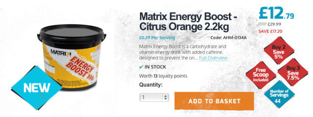 Matrix Energy Boost