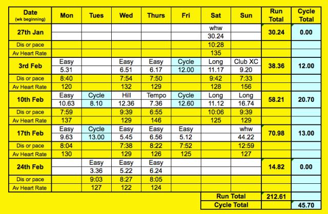 Feb runs chart