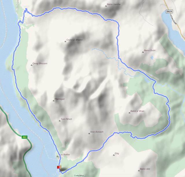 Ben Lomond loop route