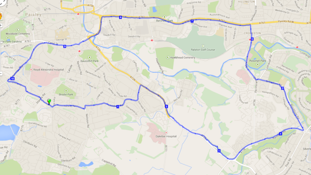 run route 22 nov