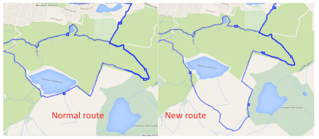 route new on braes