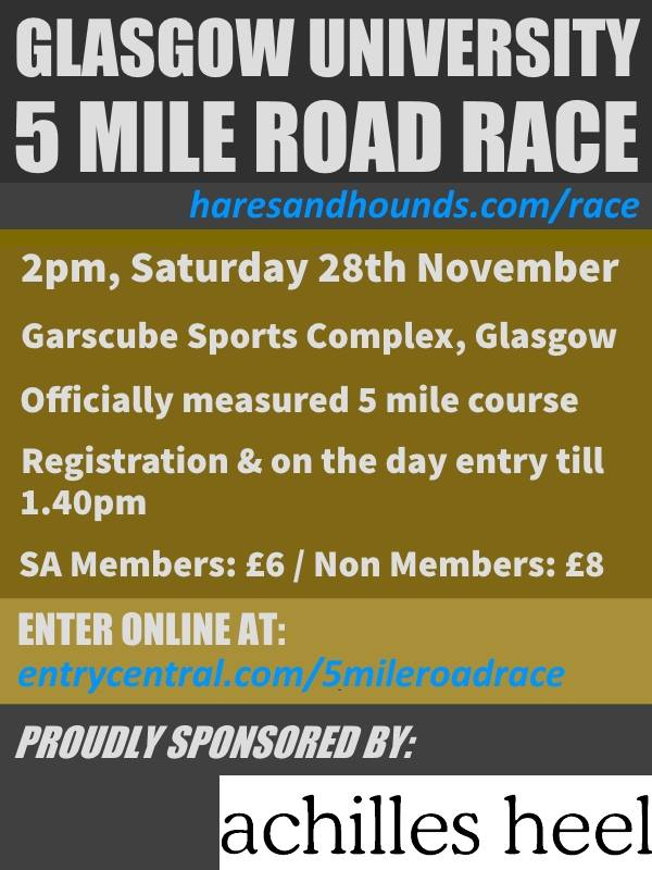 Glasgow University Road Race 2015 Flyer