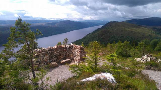 top of climb out of Invermoriston